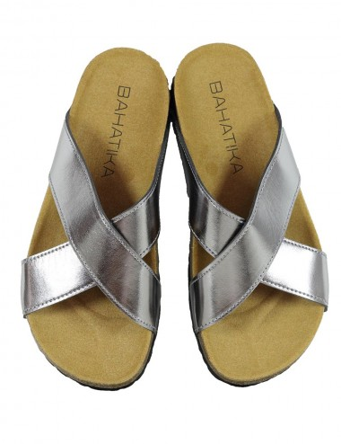 Sandales Agua Silver Metallic