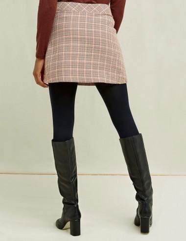 Mini-jupe à motif pied de...