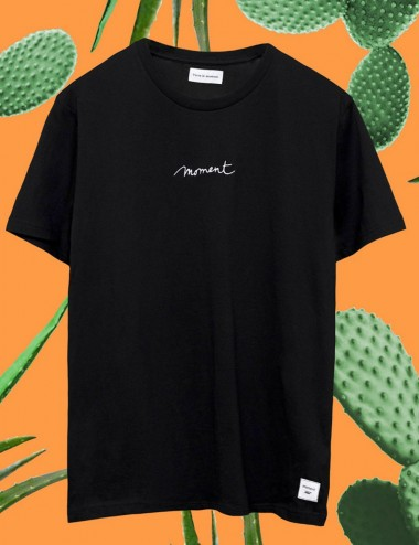 T-shirt brodé Moment noir