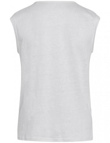 T-shirt blanc ample en lin