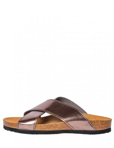 Sandales croisées Agua cuivre