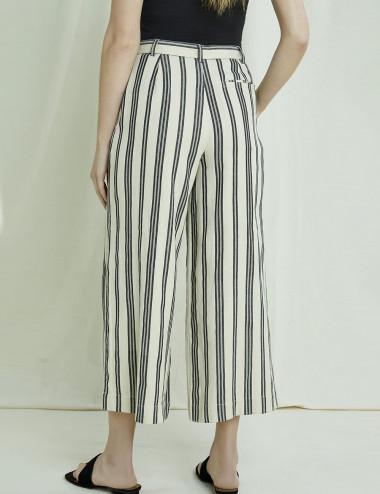 Pantalon large rayé Shauna