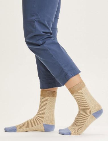 Chaussettes bicolores Diane
